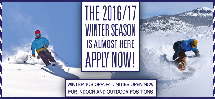 Dodge Ridge is now hiring for the 16-17 Season