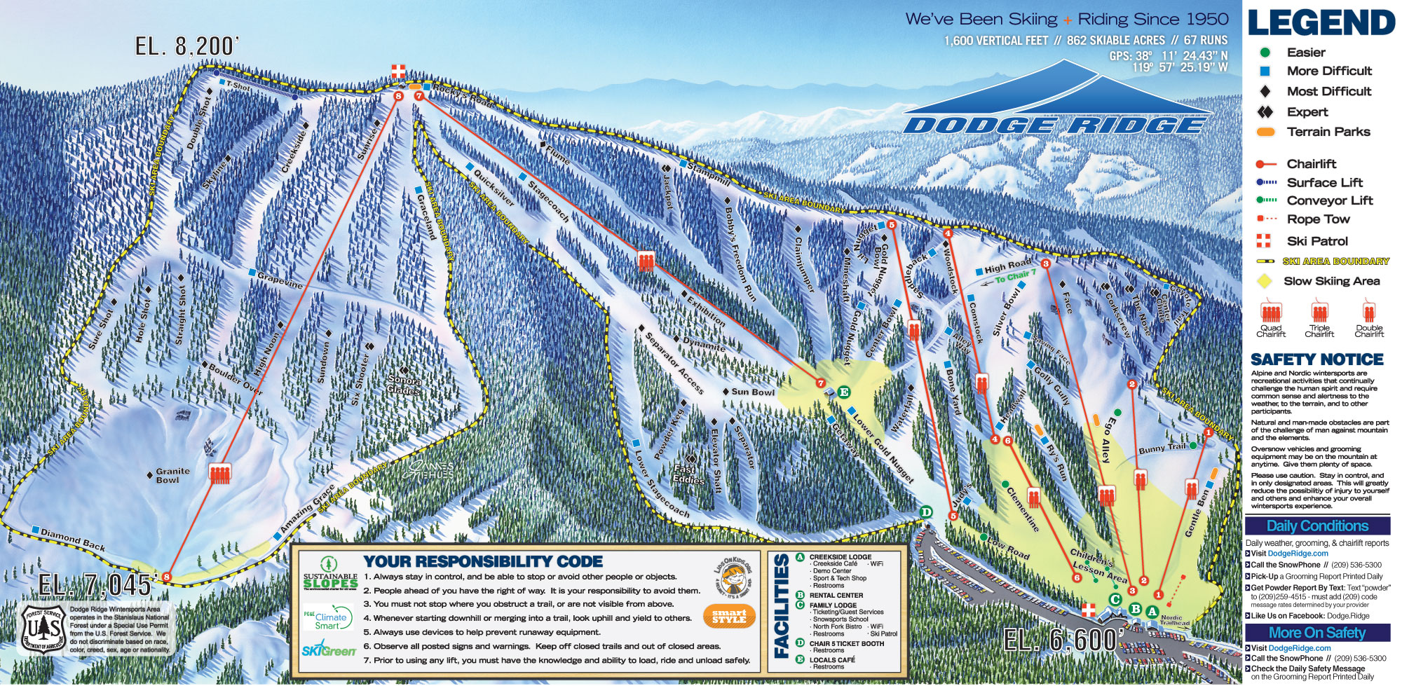 Brochure & Trail Map - Dodge Ridge