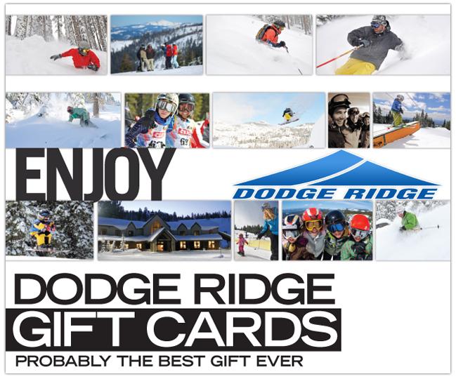 Dodge Ridge Gift Cards