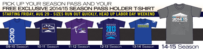 Free Exclusive Season Pass Holder T-Shirts Available Beginning Friday, August 29