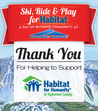 Ski, Ride & Play for Habitat - Thank You