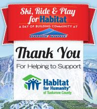 Ski, Ride & Play for Habitat - Thank You