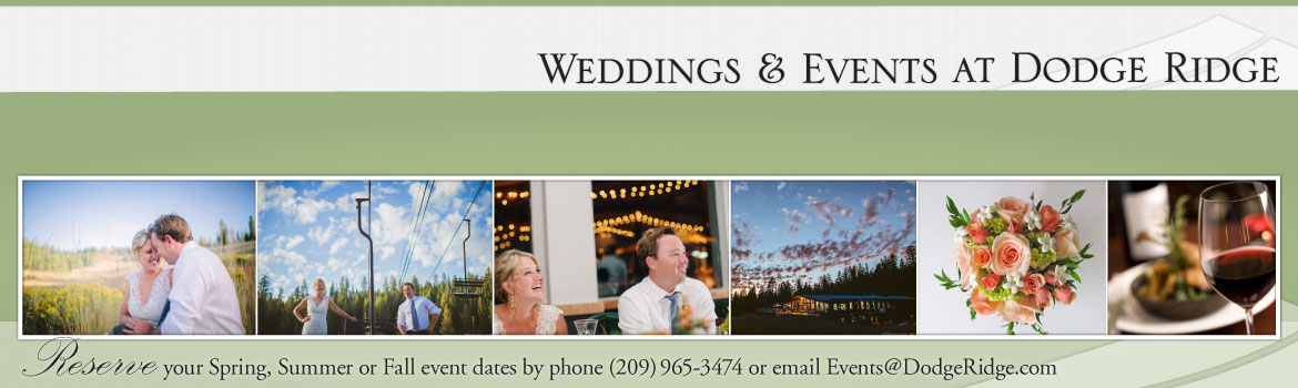 Weddings & Events at Dodge Ridge