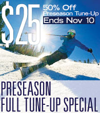 Dodge Ridge 50% Off Preseason Tune-Up Ends November 10