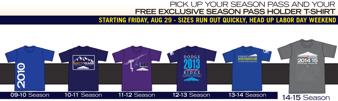 2014/15 Free Exclusive Season Pass Holder T-Shirts Begin Aug 29