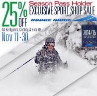 Pass Holder - 25% Off Sale - Nov 11-30_eblast