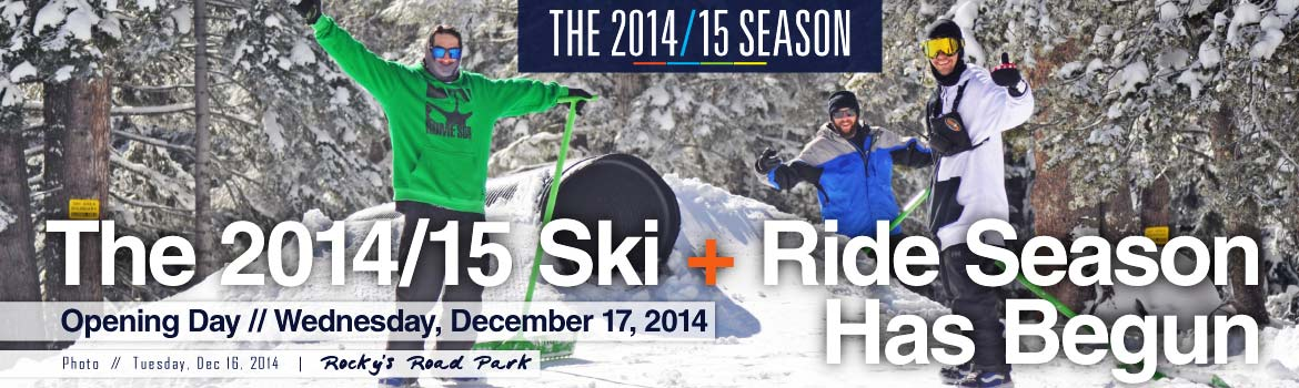 Dodge Ridge Now Open for the 2014/15 Season
