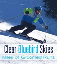 Dodge Ridge - Clear Bluebird Skies and Miles of Groomed Runs