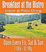 Breakfast at the Bistro at Dodge Ridge