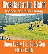 Breakfast at the Bistro at Dodge Ridge