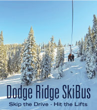 dodge ridge, skibus, ski bus, gift cards, deals, skiing, snowboarding