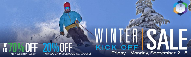 The Dodge Ridge Sport Shop Winter Kick Off Sale