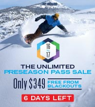 Dodge Ridge - The Unlimited 2016/17 Preseason Pass Sale - Ends October 31
