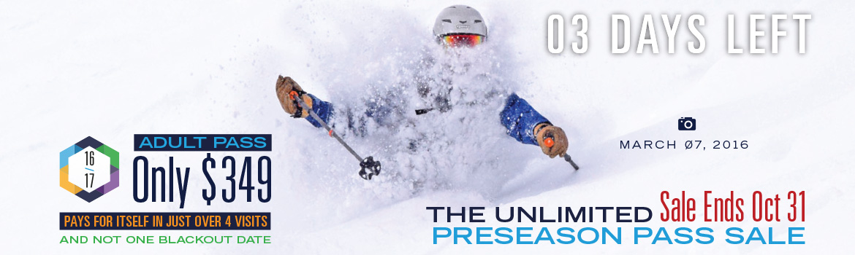 Unlimited Dodge Ridge Preseason Pass Sale - Ends Oct 31