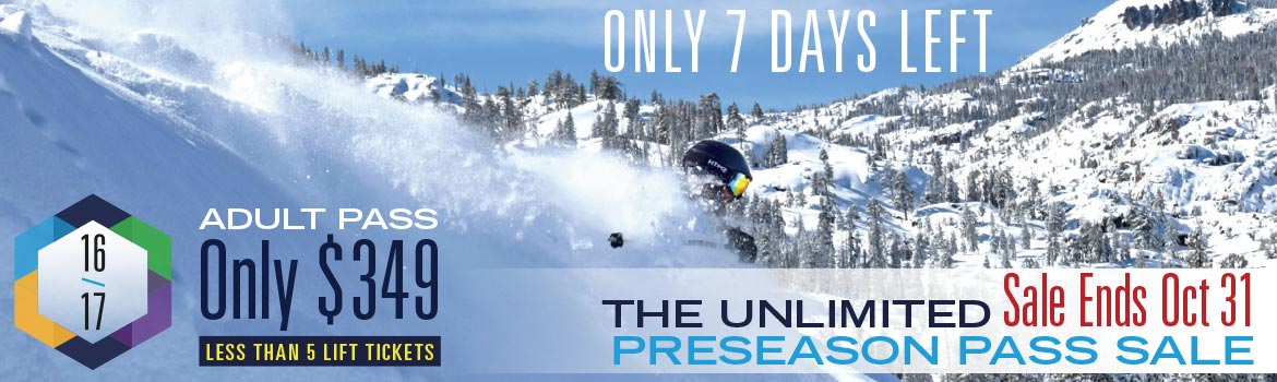 The Lowest Price Season Pass Ends, Monday, October 31