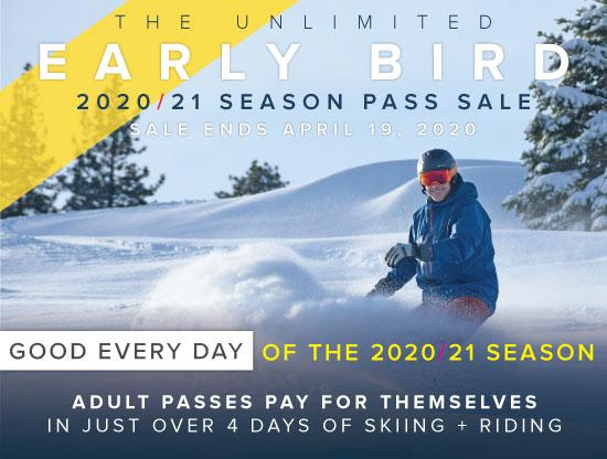 2020/21 Early Bird Season Pass Sale Ad