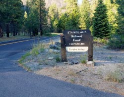 Boulder Flat Campground Sign - Dodge Ridge Ski Area