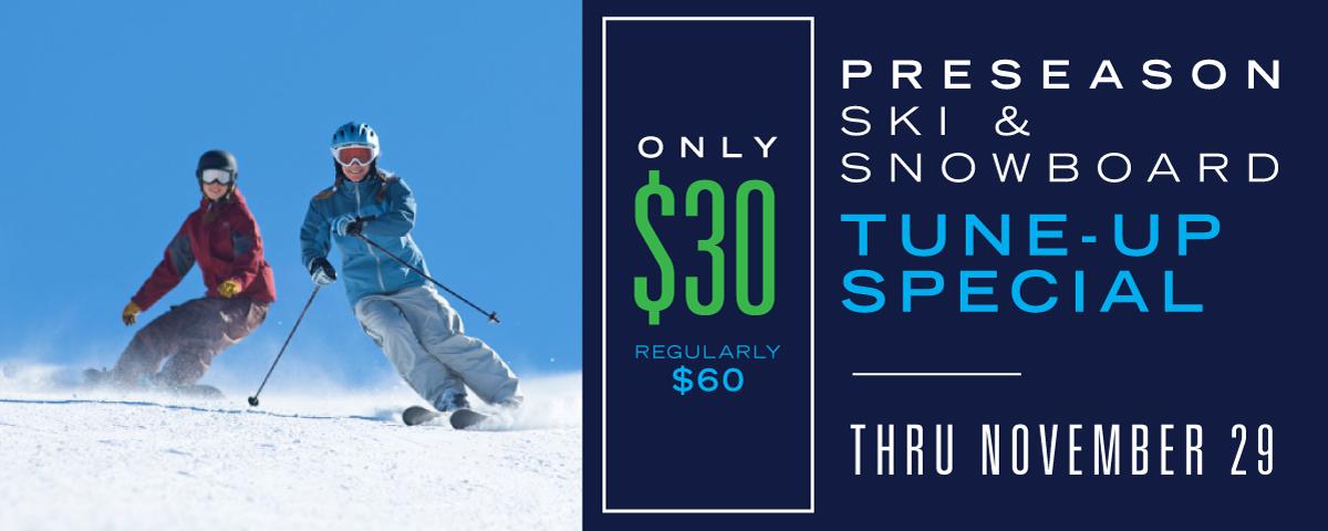 Dodge Ridge - Pre Season Ski and Snowboard Tune Up Special
