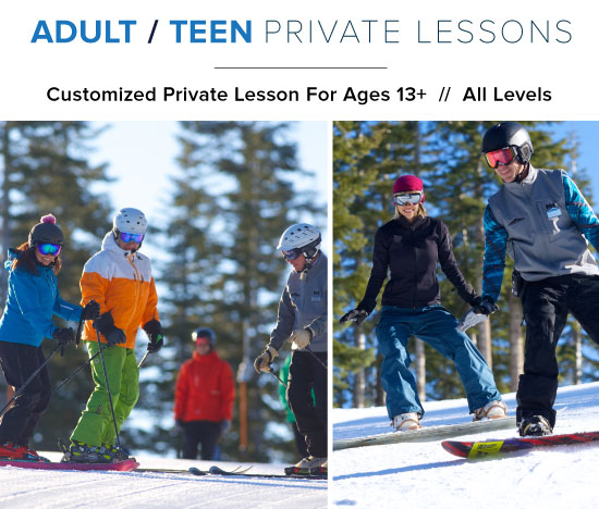 Dodge Ridge - Customized Adult - Teen Private Lesson For Ages 13+ // All Levels