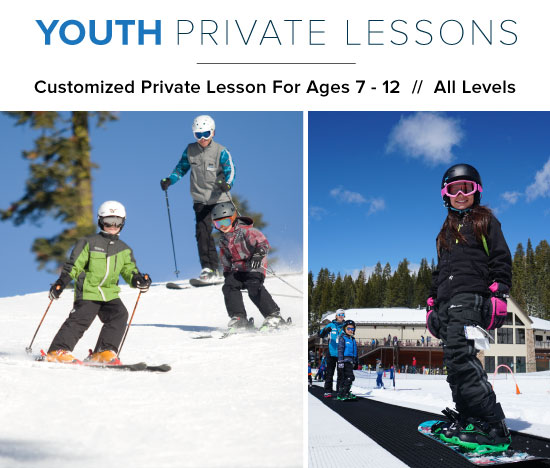 Dodge Ridge - Customized Youth Private Lesson For Ages 7 - 12 // All Levels