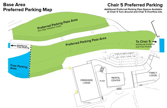 Base Area Preferred Parking Map